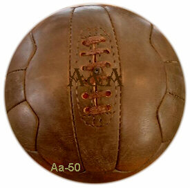 antique leather soccer ball